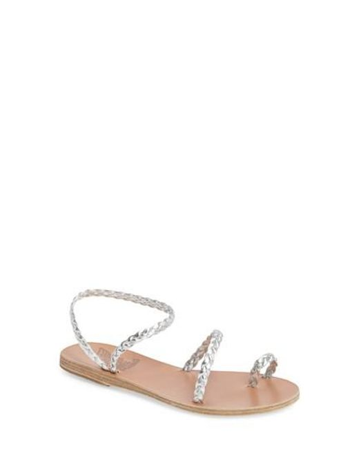 Ancient Greek Sandals | Metallic Eleftheria Sandal | Lyst