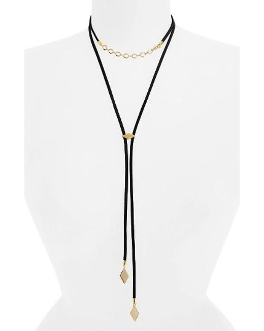 Vanessa Mooney   Multicolor The Cicely Bolo Necklace   Lyst