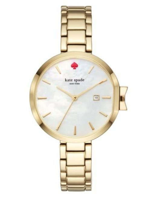 Kate Spade | Metallic Park Row Bracelet Watch | Lyst