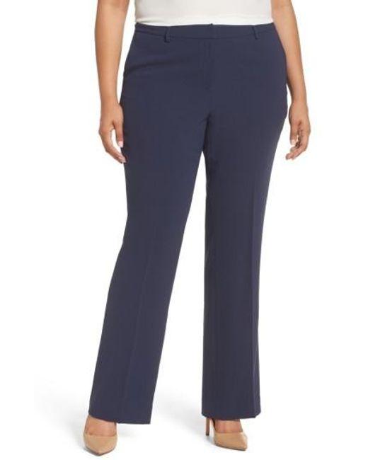 Sejour | Blue Flare Leg Trousers | Lyst