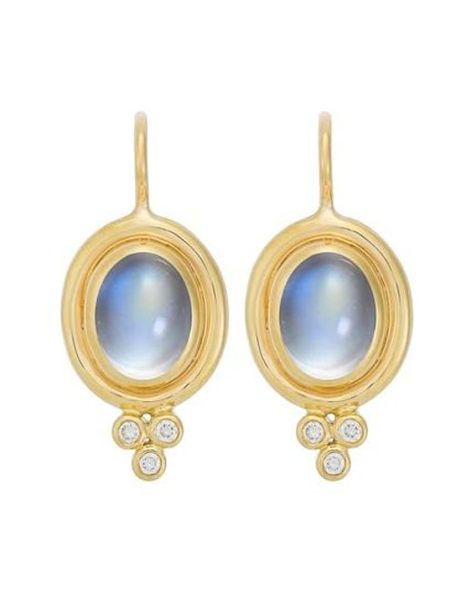 Temple St. Clair | Blue Temple St. Clair Semiprecious Stone & Diamond Drop Earrings | Lyst
