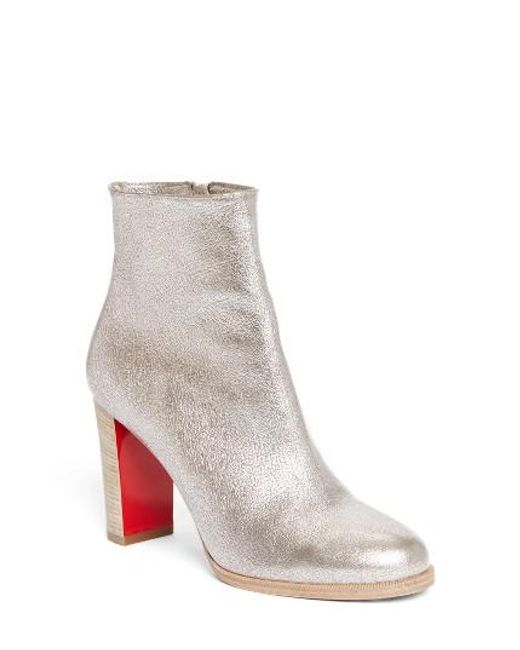 Christian Louboutin | Metallic Adox Boot | Lyst