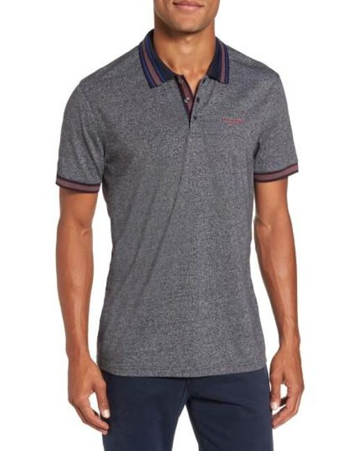 Ted Baker   Gray Fore Mouline Golf Polo for Men   Lyst