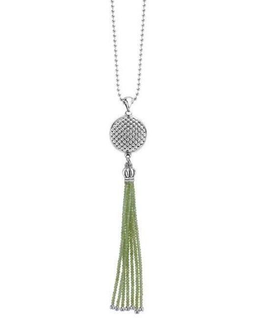 Lagos | Metallic Caviar Icon Tassel Pendant Necklace | Lyst