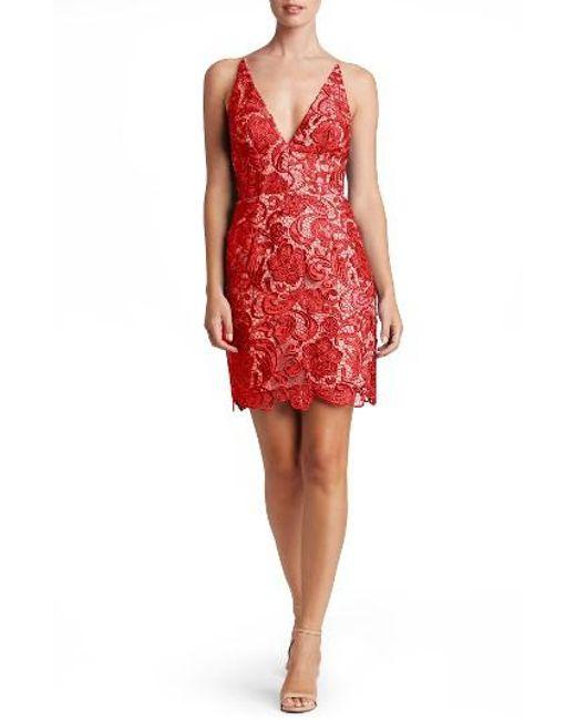 Dress the Population | Red Allie Sheath Dress | Lyst