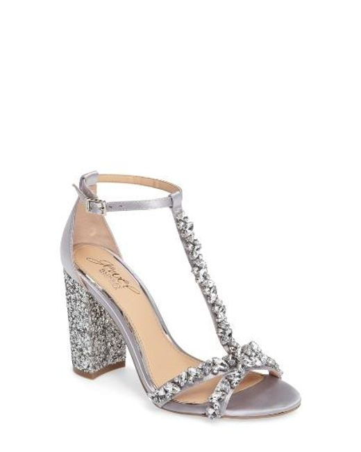 Badgley Mischka | Metallic Carver Block Heel Sandal | Lyst