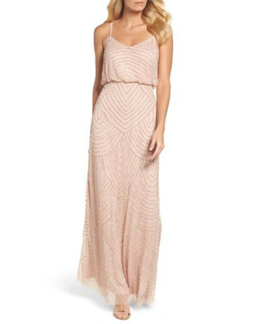Adrianna Papell | Pink Embellished Blouson Gown | Lyst