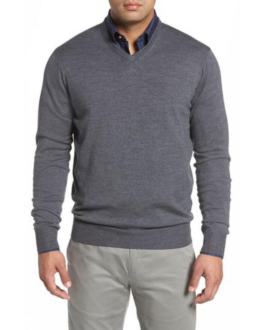 Peter Millar | Gray Merino Sweater for Men | Lyst