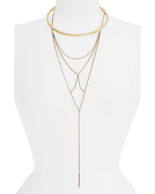 Jenny Bird | Metallic Neith Convertible Necklace | Lyst