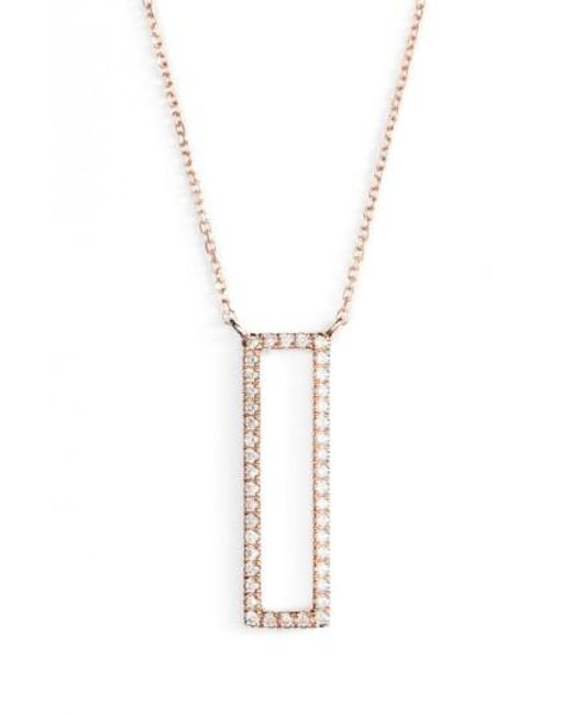 Dana Rebecca   Metallic Diamond Pendant Necklace   Lyst