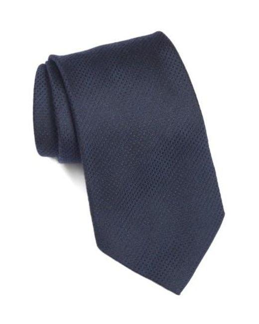 John Varvatos | Blue Solid Tie for Men | Lyst