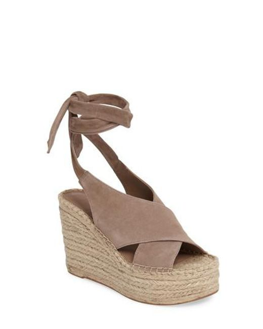 Marc Fisher | Brown Andira Platform Wedge Sandal | Lyst
