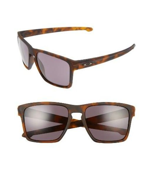 Oakley   Brown Silver Xl 57mm Sunglasses for Men   Lyst