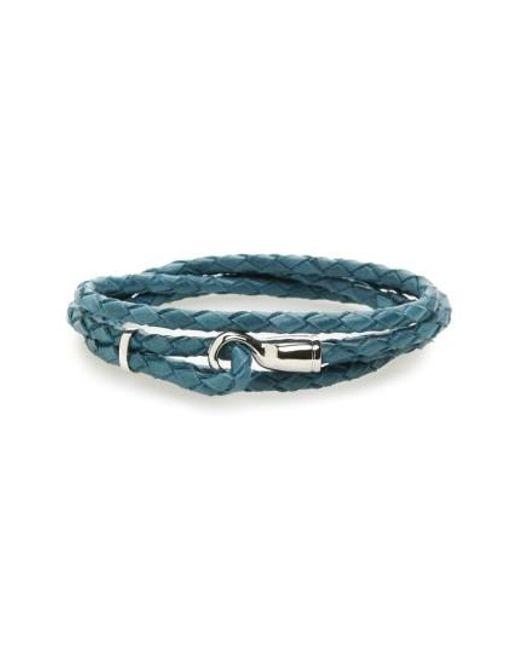 Miansai   Blue Braided Leather Bracelet for Men   Lyst