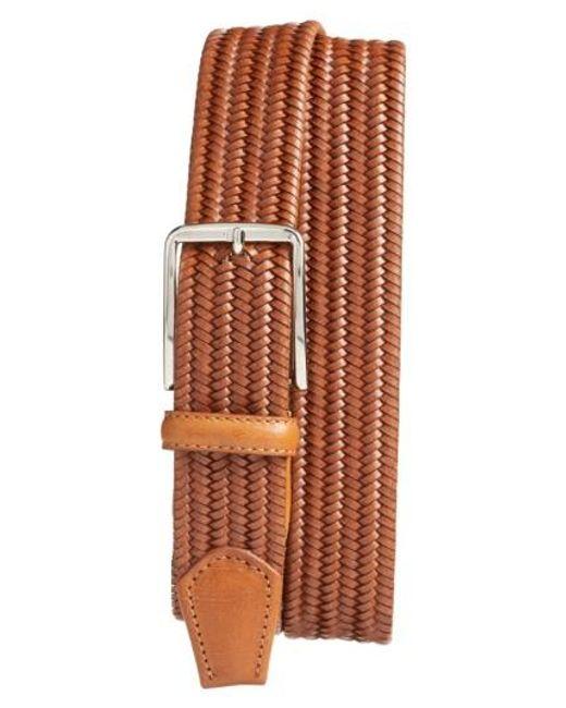 Martin Dingman | Brown Lexington Braided Leather Belt for Men | Lyst