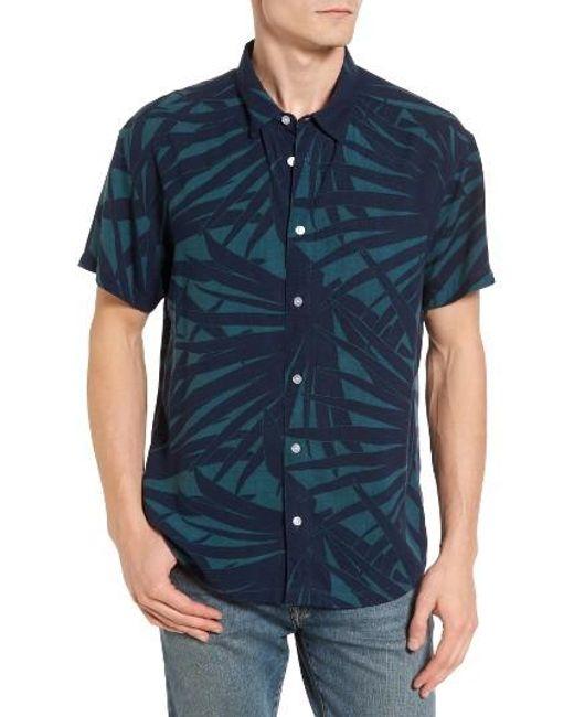 RVCA | Blue Dayoh Woven Shirt for Men | Lyst