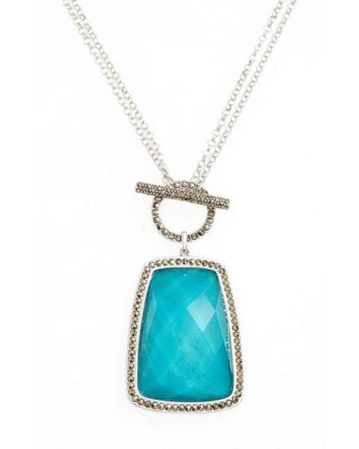 Judith Jack | Blue Doublet Pendant Necklace | Lyst