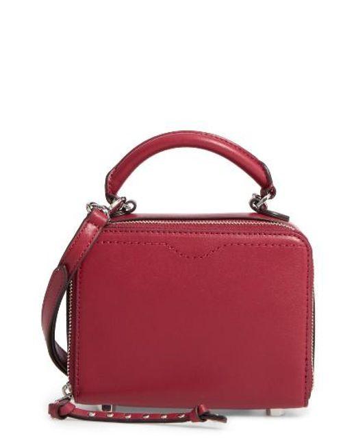 Rebecca Minkoff | Black Box Leather Crossbody Bag | Lyst