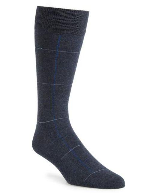Calibrate | Blue Check Socks for Men | Lyst
