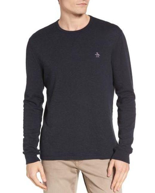 Original Penguin | Blue Reversible Long Sleeve T-shirt for Men | Lyst