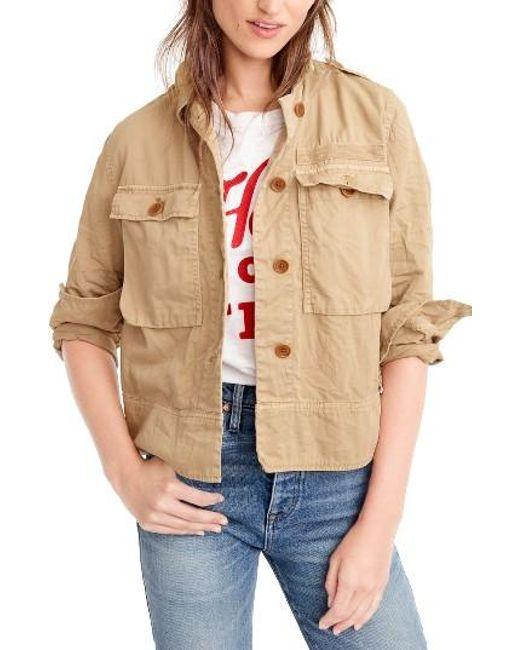 J.Crew   Natural Garment Dyed Safari Shirt Jacket   Lyst