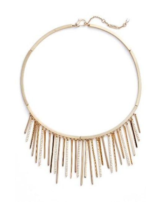 Jenny Packham   Metallic Fringe Frontal Necklace   Lyst