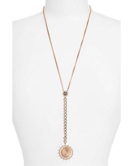 Jenny Packham | Metallic Light Up The Night Y-necklace | Lyst