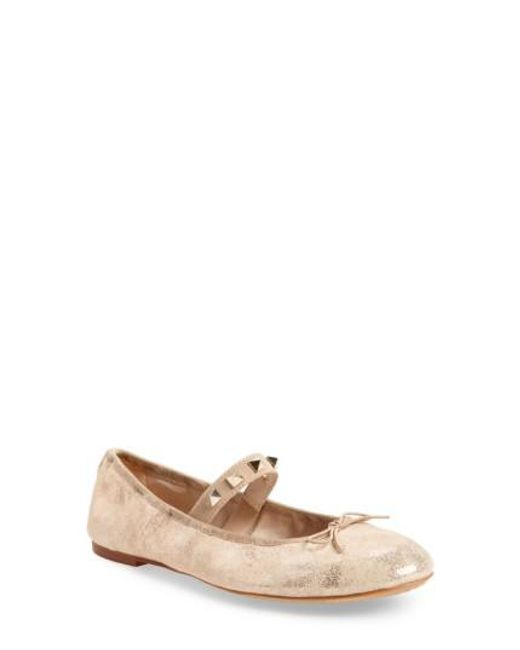 Vince Camuto | Natural Prilla Studded Ballet Flat | Lyst