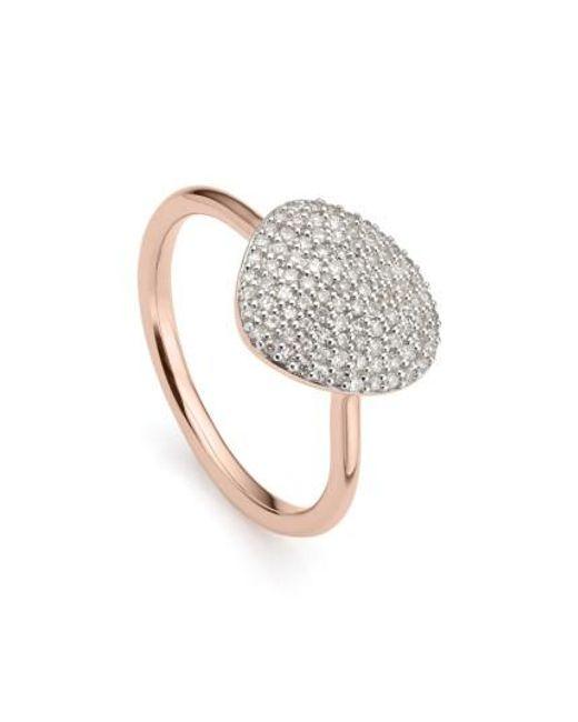 Monica Vinader | Metallic Nura Diamond Pebble Ring | Lyst