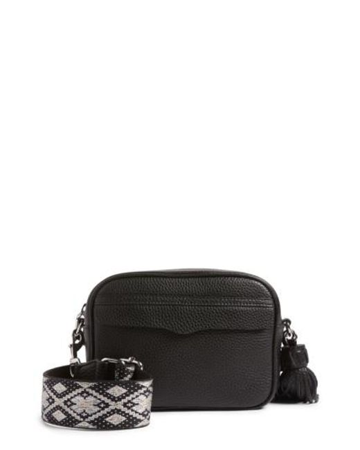 Rebecca Minkoff   Black Leather Camera Shoulder Bag   Lyst