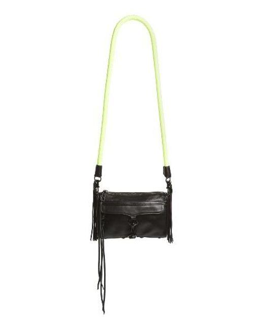 Rebecca Minkoff | Black Mini Mac Leather Crossbody Bag | Lyst