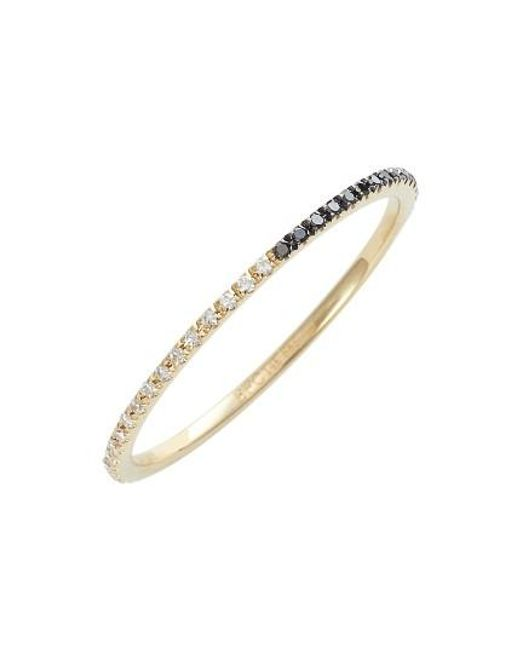EF Collection | Metallic Two-tone Diamond Stack Ring | Lyst