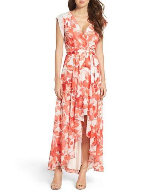 Eliza J - Multicolor Surplice Obi High/low Dress - Lyst