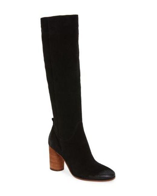 Sam Edelman   Black Camellia Tall Boots    Lyst