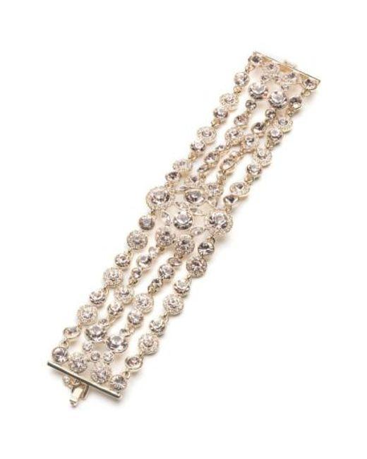 Givenchy | Metallic Drama Crystal Bracelet | Lyst