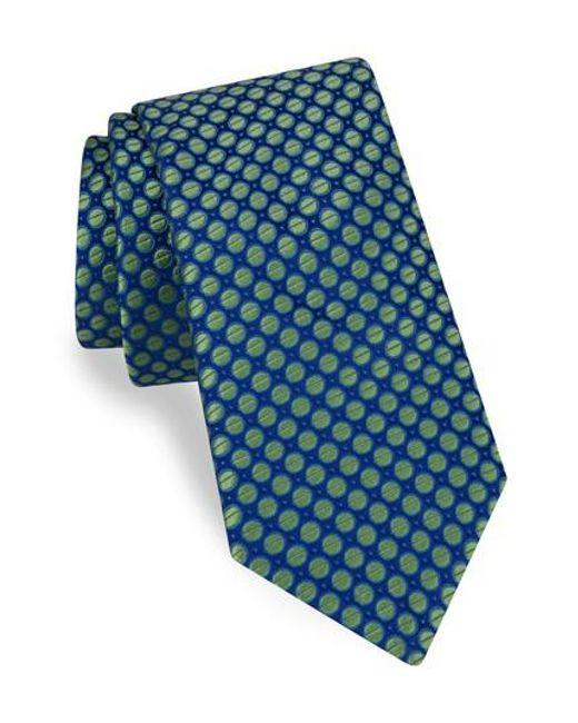 Ted Baker | Blue Dot Silk Tie for Men | Lyst