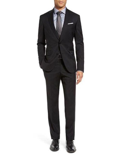 Ted Baker | Black Jones Trim Fit Wool Suit for Men | Lyst