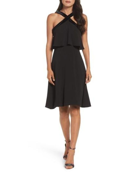 Maggy London | Black Catalina Popover Dress | Lyst