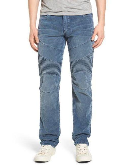 True Religion   Blue Geno Straight Leg Corduroy Moto Pants for Men   Lyst