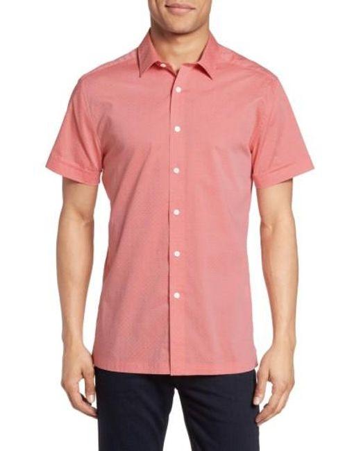 Vince Camuto   Pink Short Sleeve Sport Shirt for Men   Lyst