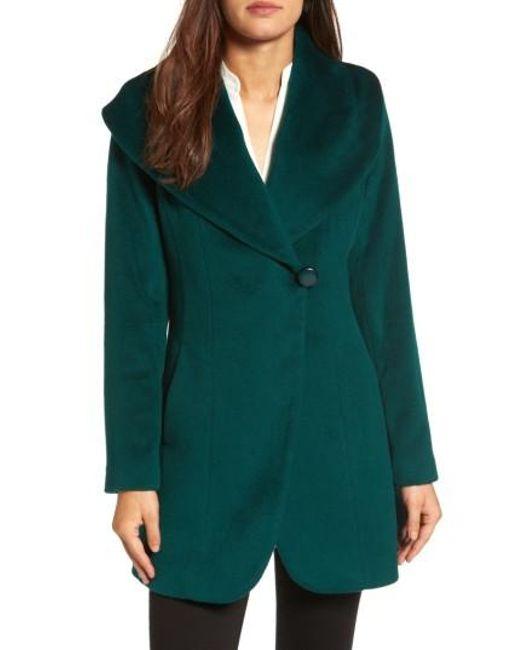 Trina Turk | Green Jemma Shawl Collar Coat | Lyst