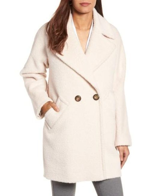 Trina Turk | Natural Nancy Double Breasted Coat | Lyst