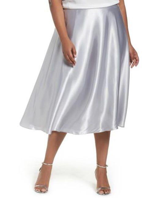 Alex Evenings | Multicolor Full Charmeuse Tea-length Skirt | Lyst