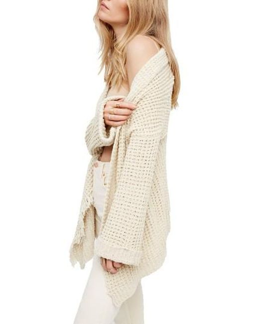 Free People   White I'll Be Around Cardigan   Lyst