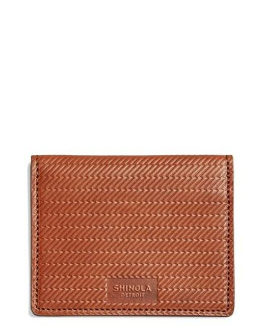 Shinola | Brown Id Card Wallet for Men | Lyst