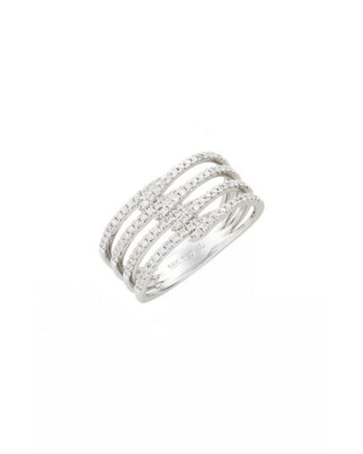 Bony Levy | Metallic Kiera Four-row Diamond Ring (nordstrom Exclusive) | Lyst
