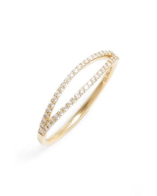 Bony Levy   Metallic Kiera Two-row Diamond Stack Ring (nordstrom Exclusive)   Lyst