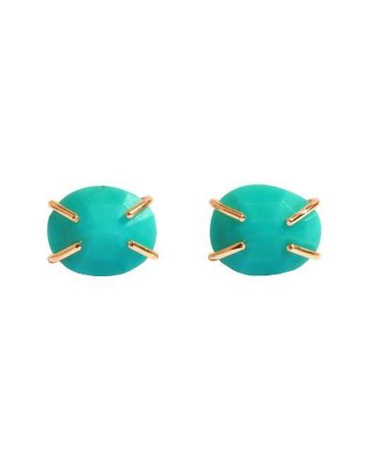Melissa Joy Manning | Blue Turquoise Prong Stud Earrings | Lyst