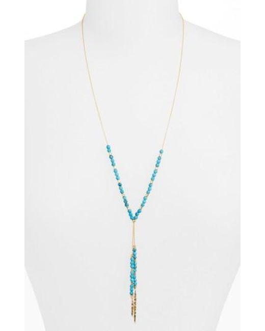 Gorjana | Blue Power Stone Semiprecious Stone Necklace | Lyst