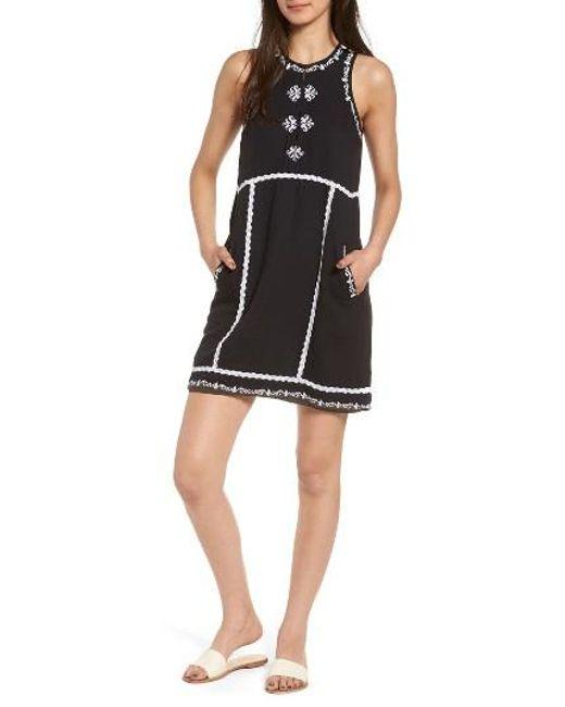 Ella Moss   Black Marini Shift Dress   Lyst